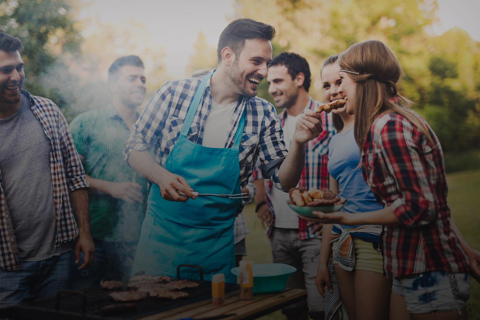 image of a group of people at a picnic barbecue