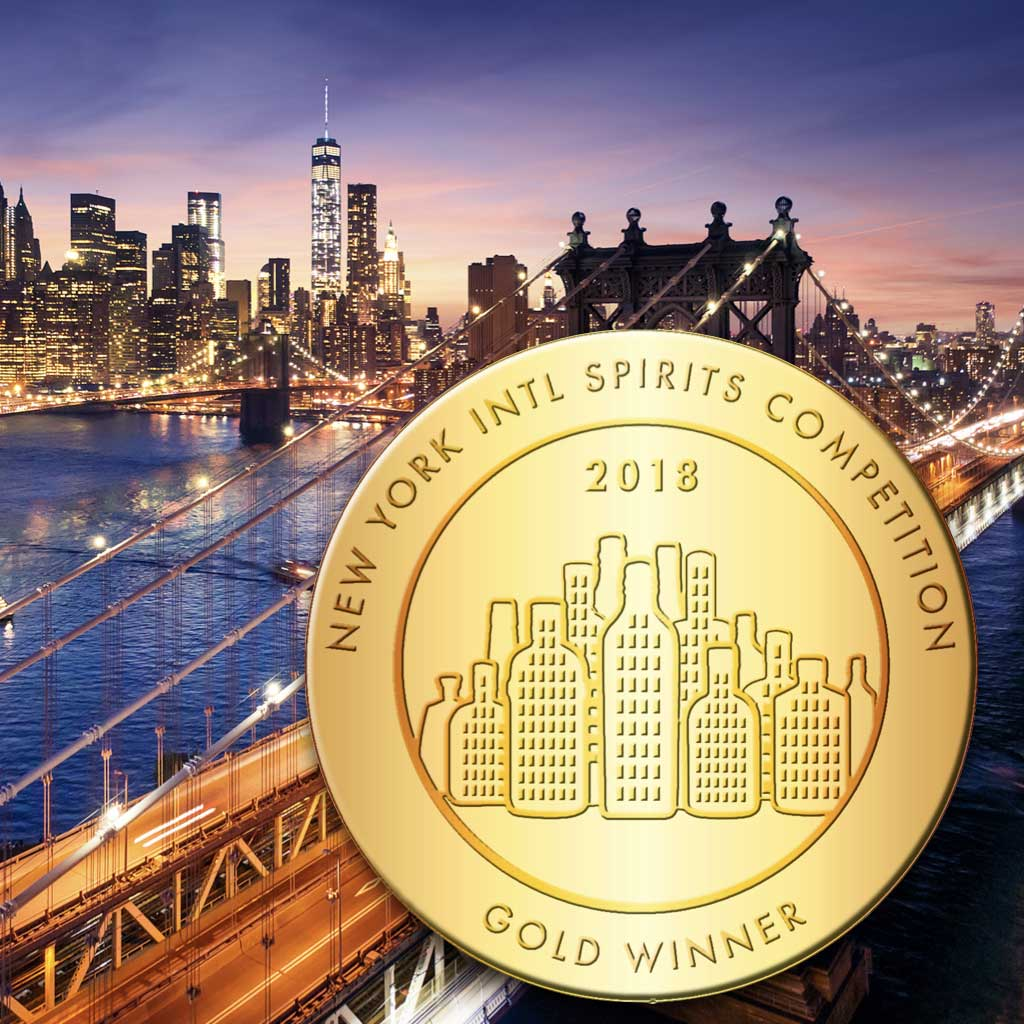 Image of New York International Spirits Competition Gold Winner for 2018