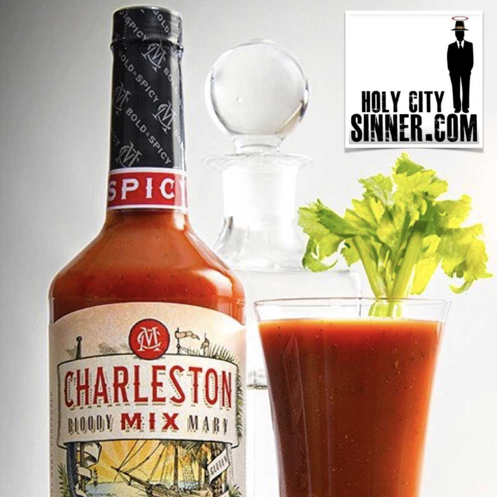 Image of Charleston mix bottle with bloody mary drink